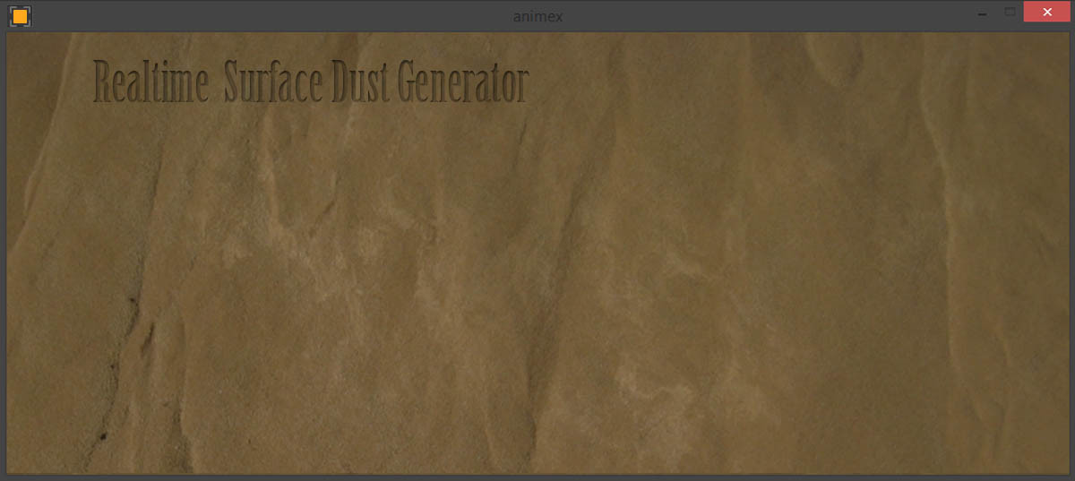 Realtime Surface Dust Generator